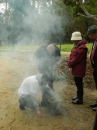 Smoking ceremony at Dandenong Police Paddocks